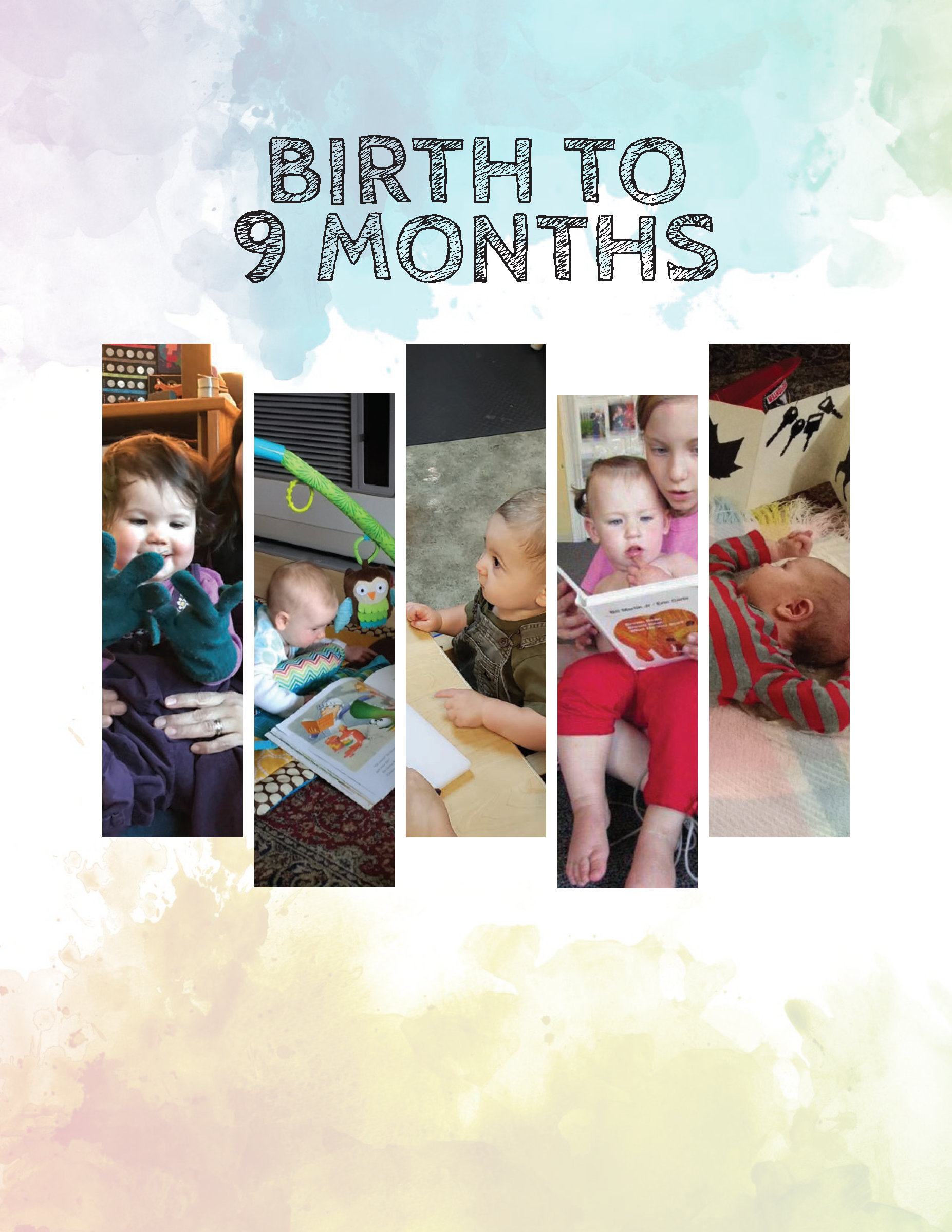 Alaska Early Learning Guidelines Birth to 9 Months Cover